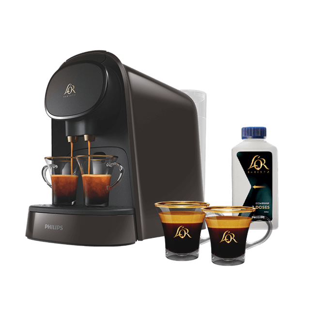 Machine L'OR BARISTA® Moonstone Gris + deux tasses + un détartrant