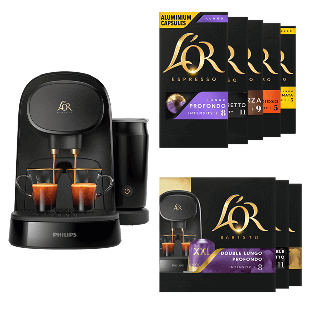 Latte Piano Noir + 100 capsules