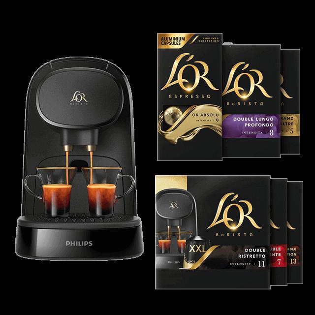 150 capsules achetées = L'OR BARISTA Piano Noir offerte