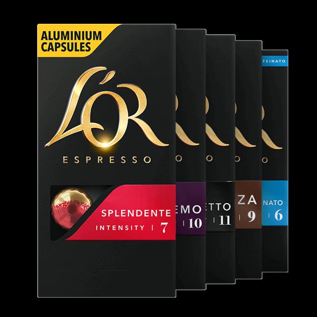 Selectie van espresso's